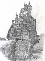 Castle Sketch by Jorge-D-Fuentes
