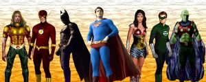 Justice League lineup by Valor1387