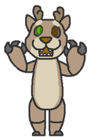 Claude as a animatronic by EveningClouds