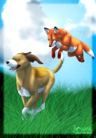 The Fox and the Hound by Yazora