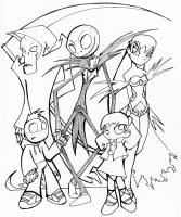 W.I.P. Halloween Grim Tales. by SnafuDave