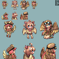 Moemon - Pidgey Family by CMagister