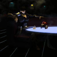 Captain Falcon at a bar by Spire-III