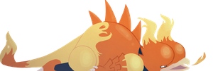 Commission: Lazy Magmar by Hofftits