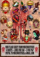 MDC Tattoo Flash set 1 by monkeydeathcult