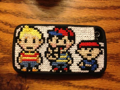 Earthbound / Mother Cross Stitch DIY iPhone case. by Romaen