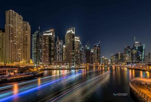 Dubai Marina Long exposure shot 2 by vinayan