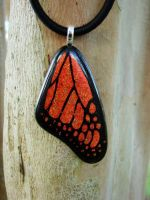 Copper Glass Monarch Wing by FusedElegance