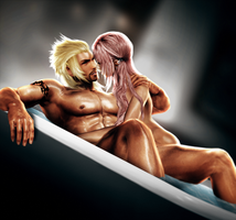 Snow and Serah by DaemonCollection