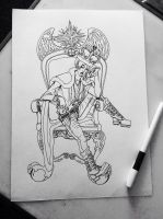 The King of Wishes -line art by rocket-child