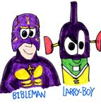 Larry-Boy and the Bibleman by SonicClone