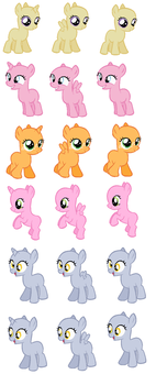 Foal Bases part 3 by EdgeofFear