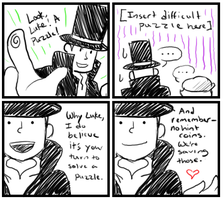 Layton is Smooth by SilverHyena