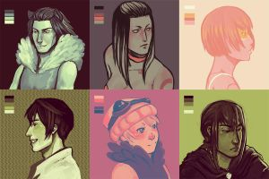 Palette Challenge - OCs by AngieBlues