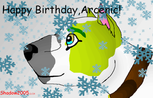 Happy Birthday Arcenic by blackwolfdiamond