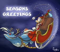 Santa Ray's Seasons Greetings - Contest Entry by EarthGwee