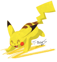 Pikachu by T-Reqs