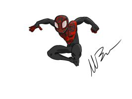 Miles Morales Spiderman by GingerBaribuu