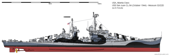 USS San Juan CL-54 (October 1944) - Measure 32/22D by ColosseumSB