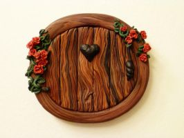 2nd Round Roses Door by FlyingFrogCreations