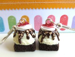 Brownie Sundae Earrings by LittleSweetDreams