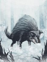 Wolf Speed Painting by ivanev