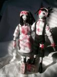 Jack and Jill -distorted by dollmaker88