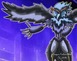 Blackwing Shura the Blue Flame by Dragon-Celtic-Chan