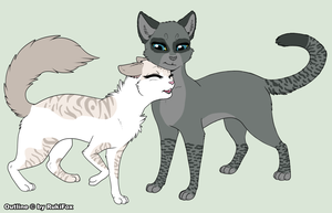 Cottonfeather and SpeckleTail by The-Smile-Giver