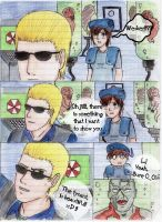 Wesker and the tyrant xD by Ginkou