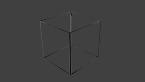 The Emptines Of A Blender Cube by jensdevries