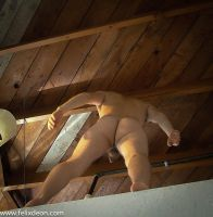 Nude Male in Perspective Looking up by Felixdeon