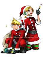 Vocaloid Xmas by InnocenceShiro