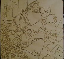 Elric Brothers uncolored by Kat-Lady04
