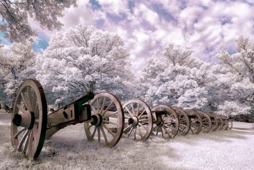 Valley Forge Cannons by swiftmoonphoto