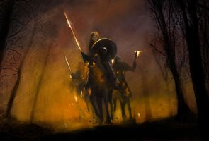 The Dark Riders by artocal