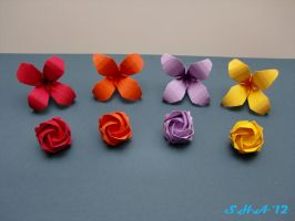 origami flowers by sushann