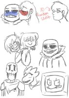 Undertale Sketches by WickedHex