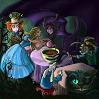 Jabberwocky Tea Party by Hawaiiansockmonkey