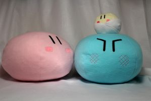Two Large and One small Clannad Dango Family Plush by PicturePerfectTime