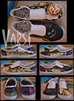 Alice in Wonderland Shoes XD by varsi