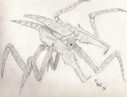 Starship Troopers warrior bug by MisterSali