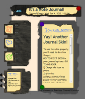 Note Journal Skin by jaclynonacloud