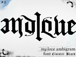 my love ambigram by snakkar