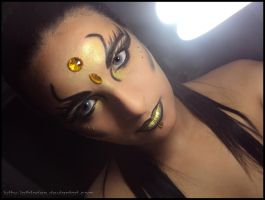 Make-Up Golden-Black Tribal by Luthy-Lothlorien