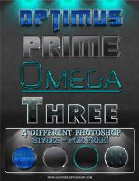"""Optimus"" 4 photoshop styles by Gaucher"