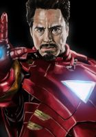 Iron Man Digital Painting by iamherecozidraw