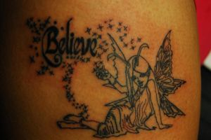Lining of Fairy Tattoo by WikkedOne