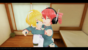 MMD: You're just so cute! by kasanexkagamine