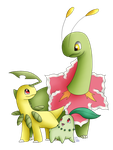 We Are Family - Chikorita, Bayleef, Meganium by BlueEyesNeko